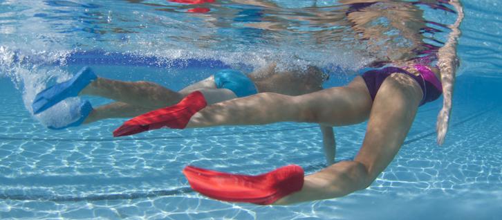 L'aquapalming dans sa piscine